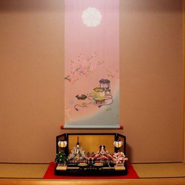 別誂え加賀友禅 雛タペストリー(桃の節句)