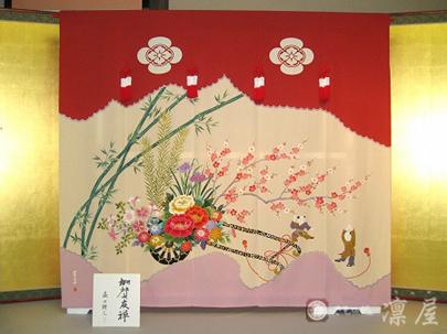 加賀友禅 花嫁のれん35-1