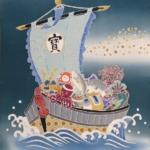 別誂え 加賀友禅祝軸『端午の宝船・大阪~石川編』 世界に一つのオリジナル