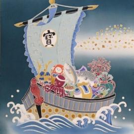 加賀友禅 祝軸 端午の宝船