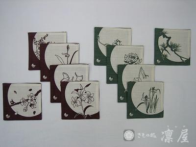 加賀染めコースター・花五十選1-1