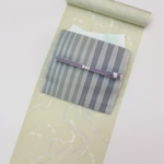 爽やか涼やかコーディネート 絽小紋と紗八寸博多帯