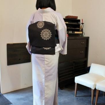 お客様コーディネート 黒髪に映えるりんや好みの紬と帯