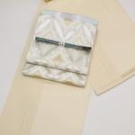 着物コーディネート 艶めく小紋に袋帯で格上げの着こなしを