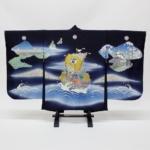 別誂え 加賀友禅 四つ身羽織『城下快晴満帆船図』世界に一つのオリジナル
