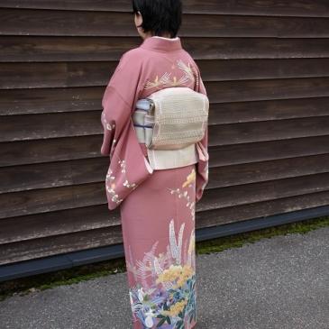 お客様コーディネート 加賀友禅で春のお出かけ♪